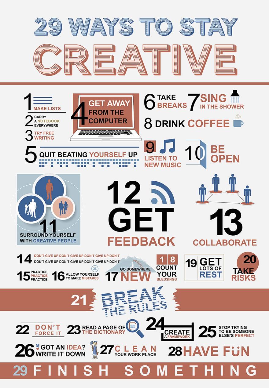 29 consejos para ser más creativo