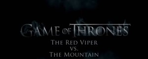 detras de camaras red viper vs the mountain game of thrones