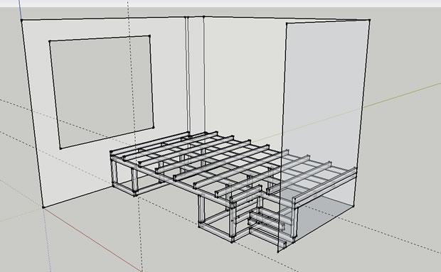 convertir habitacion de invitados en oficina - proyecto