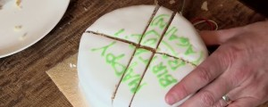 tecnica cortar torta estilo geek