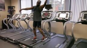 tecnica para bailar en la trotadora del gimnasio