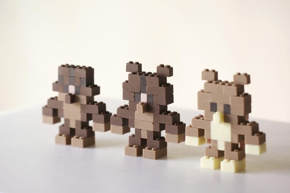 piezas de lego hechas de chocolate - 03