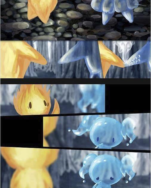 historia de amor de la gota de agua y la llama de fuego - 04