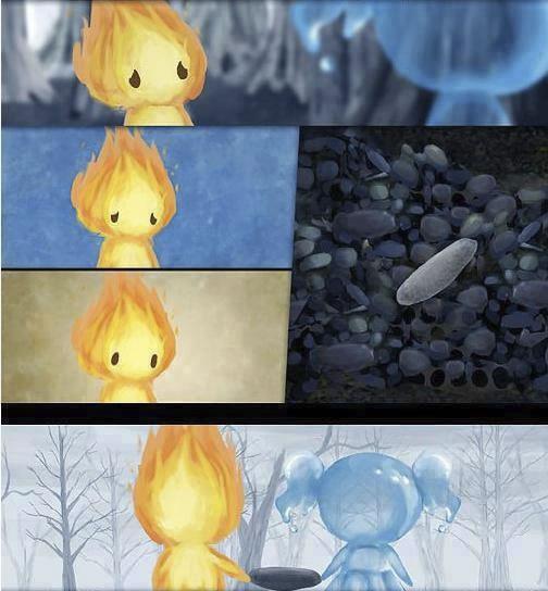 historia de amor de la gota de agua y la llama de fuego - 05
