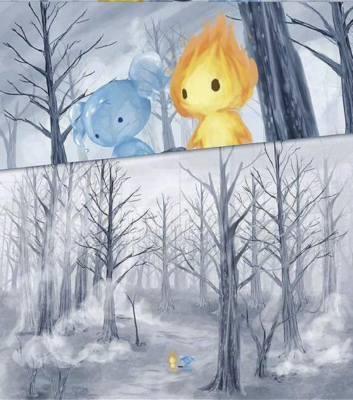 historia de amor de la gota de agua y la llama de fuego - 06