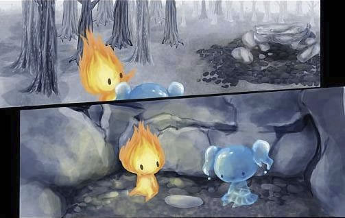 historia de amor de la gota de agua y la llama de fuego - 07