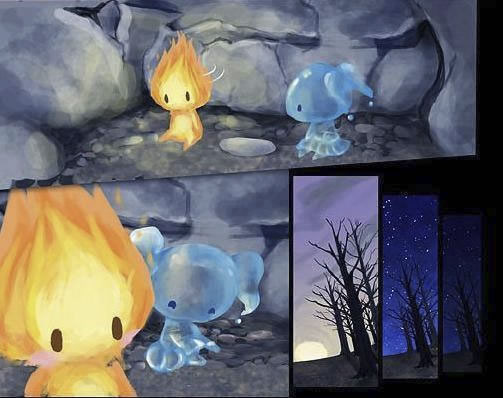 historia de amor de la gota de agua y la llama de fuego - 08
