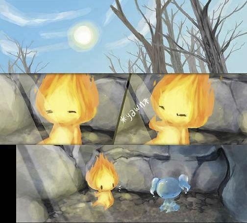 historia de amor de la gota de agua y la llama de fuego - 09