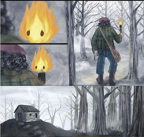 historia de amor de la gota de agua y la llama de fuego - 12