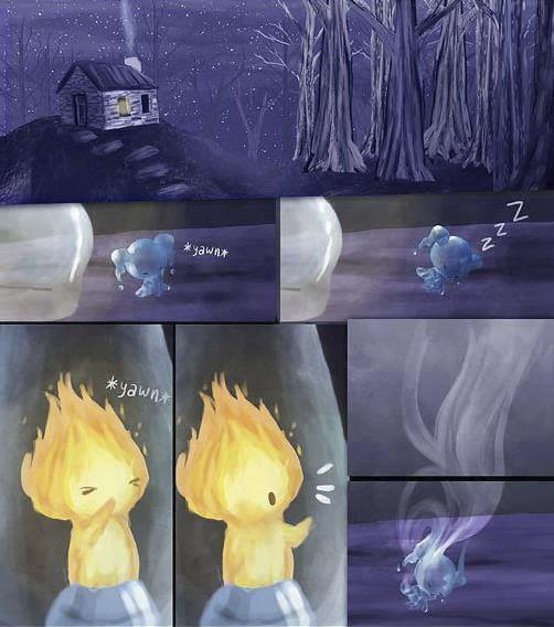 historia de amor de la gota de agua y la llama de fuego - 16