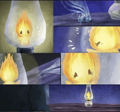 historia de amor de la gota de agua y la llama de fuego - 17