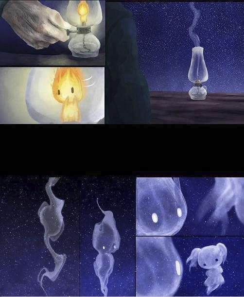 historia de amor de la gota de agua y la llama de fuego - 18