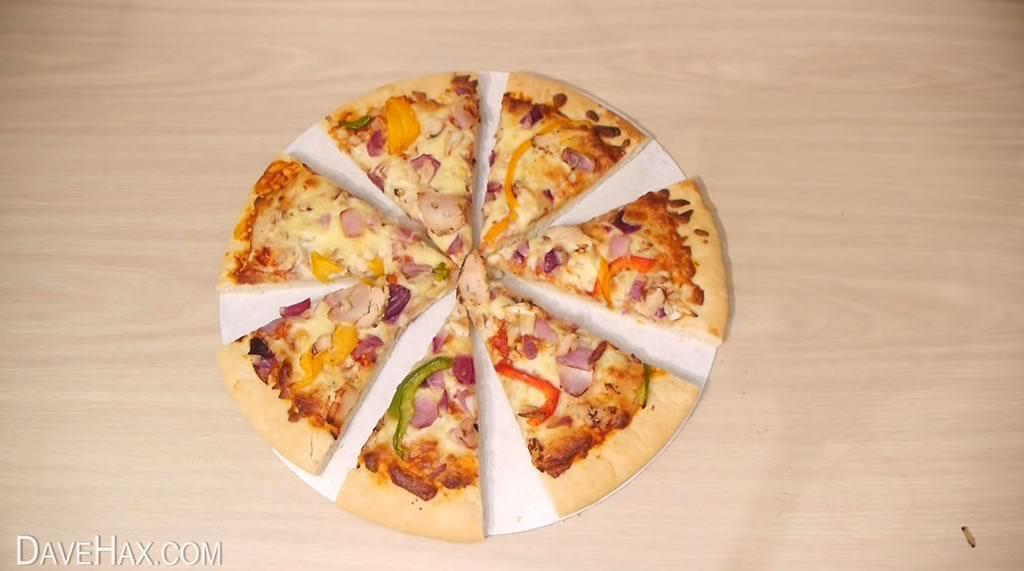 truco para cortar la pizza y quedarse con la mayor tajada 01