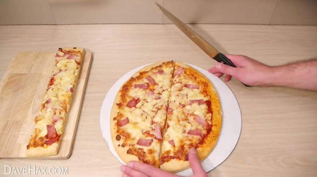 truco para cortar la pizza y quedarse con la mayor tajada 03