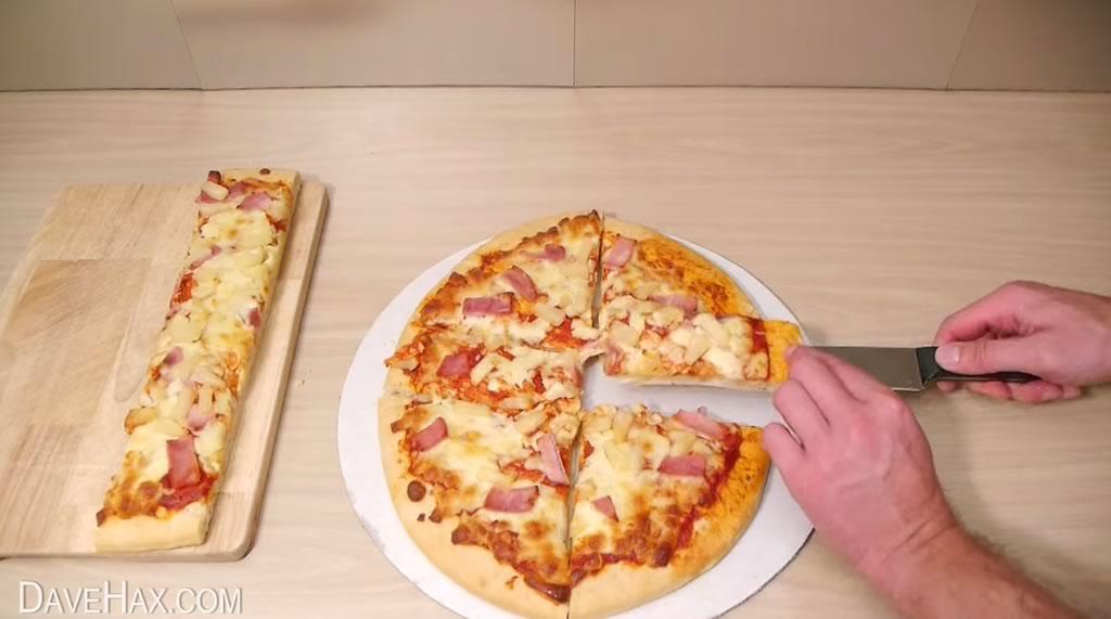 truco para cortar la pizza y quedarse con la mayor tajada 04