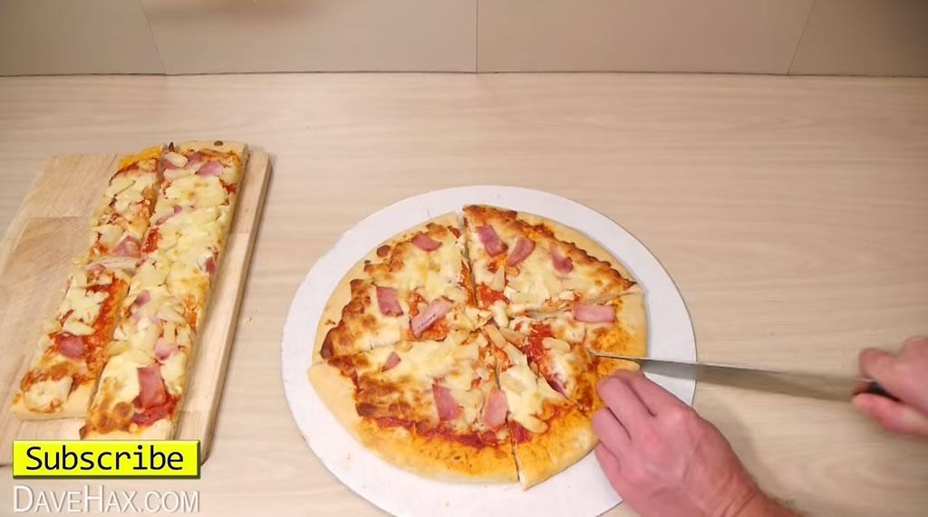 truco para cortar la pizza y quedarse con la mayor tajada 05