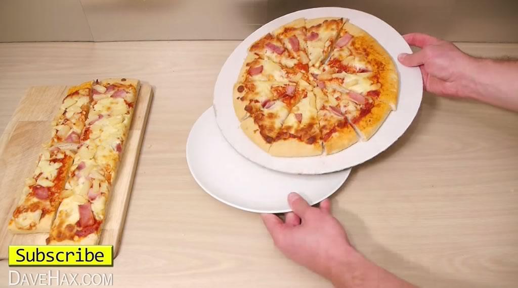 truco para cortar la pizza y quedarse con la mayor tajada 06