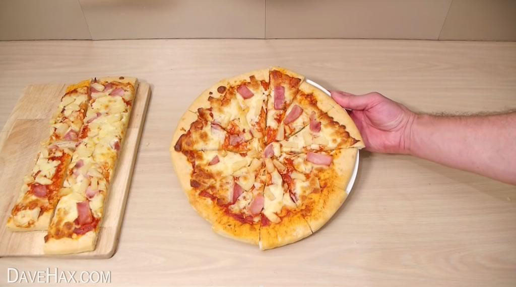 truco para cortar la pizza y quedarse con la mayor tajada 07