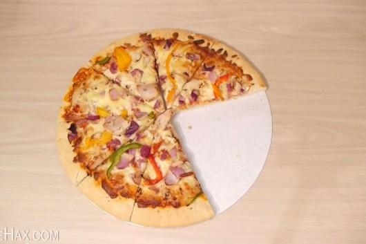 truco para cortar la pizza y quedarse con la mayor tajada
