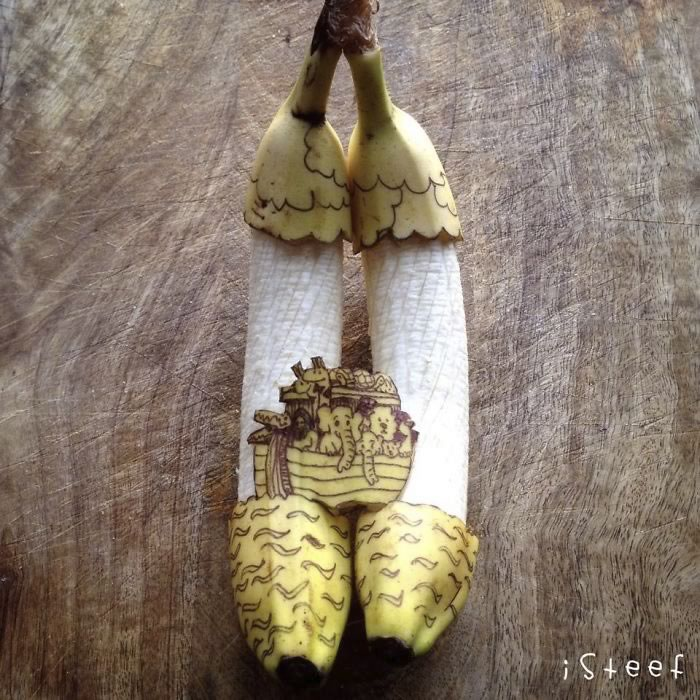 bananas convertidas en obras de arte - 08