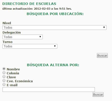 directorio escuelas en mexico