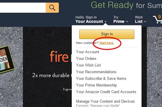 tutorial como crear una cuenta de amazon - paso 1