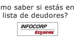 infocorp como saber si estas en la lista de deudores