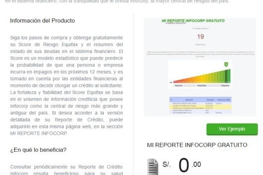 mi reporte infocorp gratuito