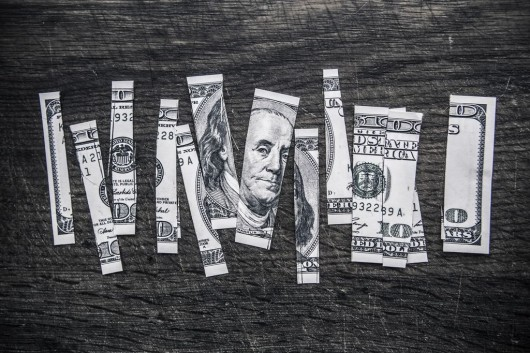 dolar dinero corte