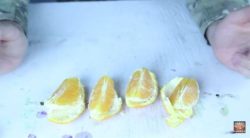 truco para pelar una naranja con las manos - 06