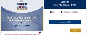 consulta miembros de mesa elecciones 2016